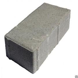 Плитка тротуарная, Кирпичик, 200*100*80мм, серый
