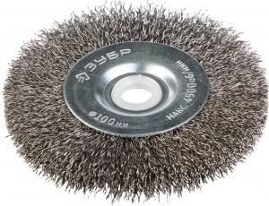 Щетка ЗУБР Эксперт 100мм дисковая для точильного станка
