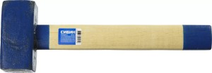 Кувалда СИБИН 4 кг с деревянной рукояткой