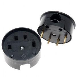 Разъем РШ-ВШ 32А для электроплит 380В черный
