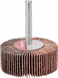 Круг шлифовальный Зубр 15х30 Р60 веер, лепестки на шпильке