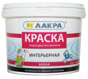 Краска интерьерная белая Лакра, 1,3 кг.