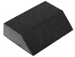 Губка шлифовальная Р80, 100х68х42х26мм (4-х сторонняя)