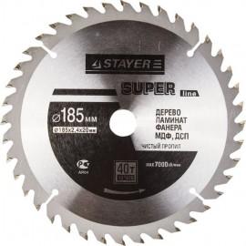 Диск пильный STAYER MASTER SUPER-Line 185*20мм 40Т по дереву