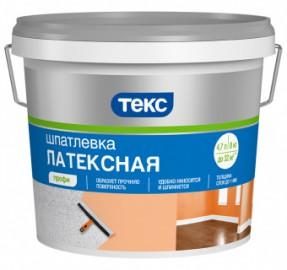 Шпаклевка латексная ПРОФИ ТЕКС, 8 кг.