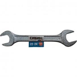 Ключ рожковый Сибин 22*24мм