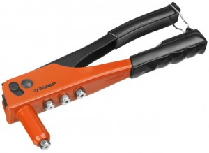 Заклепочник Зубр MX100 для алюминиевых заклепок d=2.4-4.8мм стальной корпус