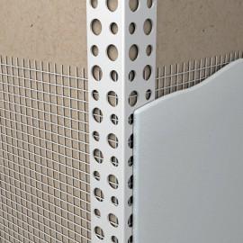 Уголок ПВХ с армирующей сеткой  10*15*2500мм