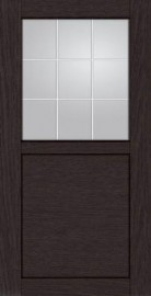 Дверь КВАДРО 2/2 Дуб темный, 700*2000 мм