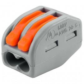 Клемма розеточная 2*(0.08-2.5/4) для жестких или гибких медных проводников
