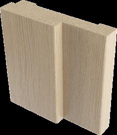 Короб дверной МДФ полукруглый Верда 28*70 мм, Дуб