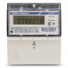 Счетчик CE-101 1 фазный, 1 тарифный. 5-60А 5мод.