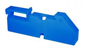 Изолятор на DIN рейку синий TDM.