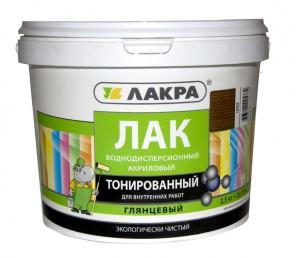 Лак Лакра водно-дисперсионный тонированный Сосна, 2,5кг