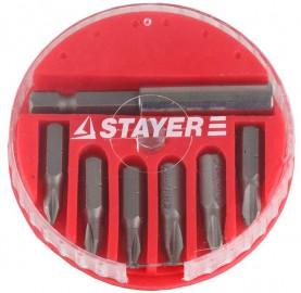Набор STAYER биты+адаптер (7предметов) круглый