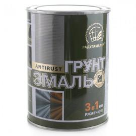 Грунт-эмаль по ржавчине 3 в 1 Радуга коричневая 0,9кг