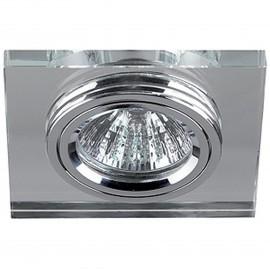 Светильник встраиваемый. DK7 CH/WH MR16 хром/зеркальный.