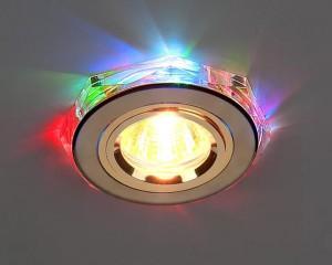 Светильник ES 2020/2 GD/7-LED SC золото/мультиподсветка.