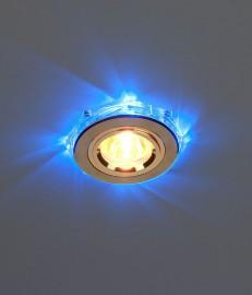 Светильник ES 2020/2 GD/LED/BL SC (золото/синяя) подсветка.