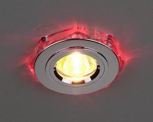 Светильник ES 2020/2 SL/LED/RD SC (хром/красная) подсветка.