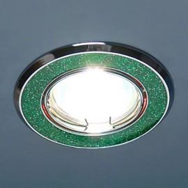 Светильник ES 611А MR16 SH GR (зеленый/блеск)