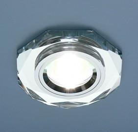 Светильник ES 8020/2 SL/SL SC зеркальный, серебро.