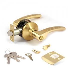 Защелка Апекс 8026-01-GМ/G, матовое золото/золото, фалевая