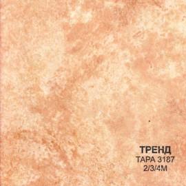Линолеум Juteks TREND Tara 3187, ширина 2,5м, толщина 2,4мм (рулон 33м.п.)-цена за м2