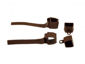 Заглушка коричневая для второй направляющей (2шт.)