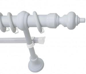 Карниз круглый (200см.), Белый (пластиковый элемент, шина)