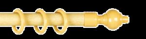Карниз круглый (160см.), Бук (пластиковый элемент, шина)