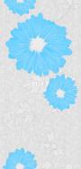"Панель ""Урал-пласт"" 119/3 Голубые цветы. (2600*250*9мм)"