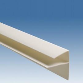Профиль старт-финиш. F-образный ПВХ (45*10 мм* 3м) Белый.