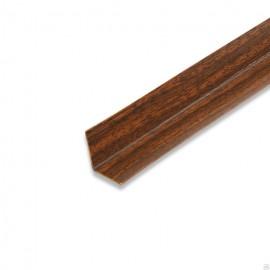 Угол накладной ПВХ (25*25*2700) Орех темный 925