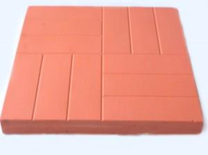 Плитка тротуарная (50х50) красная.