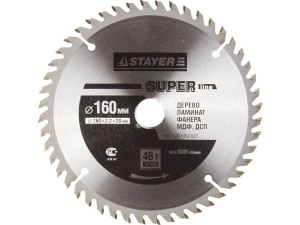 Диск пильный STAYER MASTER SUPER-Line 160*20мм 48Т