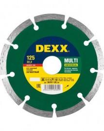 Диск отрезной алмазный DEXX 125*7*22,2 сухая резка