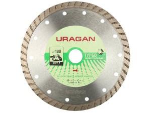 Диск отрезной алмазный URAGAN 180*22,2 ТУРБО