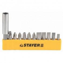 Набор STAYER головки с битами и магнитным адаптером