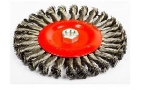 Щетка зачистная дисковая (узкий шов) 200/41x6 56K M14x2 RPM8500 витая сталь скрученная