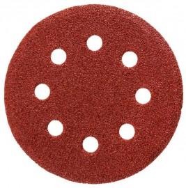 Круг STAYER 125мм Р60 абразивный шлифованный, 8 отверстий (5шт.)