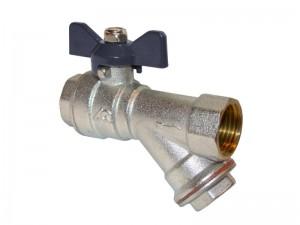 Кран Aqualink с фильтром внутренняя/внутренняя Ду020 бабочка 1/50/5