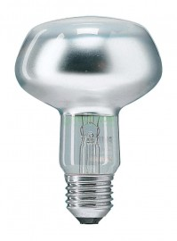 Лампа PHILIPS REFL NR80 60W 230V E27 25D зеркальная