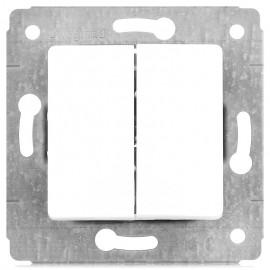 Механизм выключателя CARIVA 2 клавишный белый Leg773658