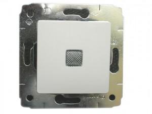 Механизм выключателя CARIVA с подсветкой белый Leg773610