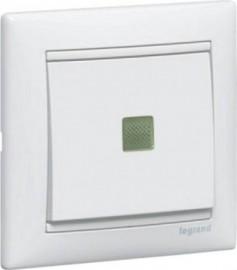 Механизм выключателя VALENA 1-клавишный белый с подсветкой Leg774410