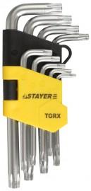 Набор STAYER ключи имбусовые короткие, 1,5-10мм (9 предметов)