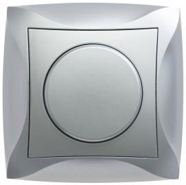 Светорегулятор Дуэт LEXEL поворотно-нажимной серебро SE WDE000336