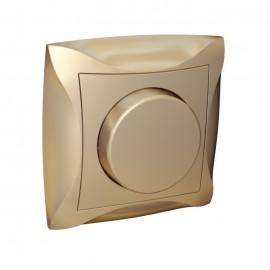 Светорегулятор Дуэт LEXEL поворотно-нажимной шампань  SE WDE000336