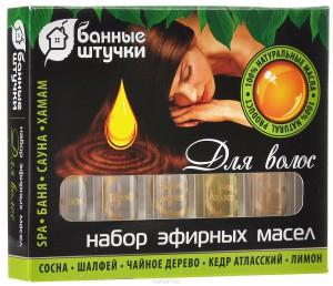 Набор масел для волос Банные штучки
